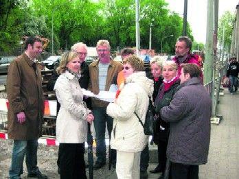 SPD- Fraktion Ortstermin Horster Straße