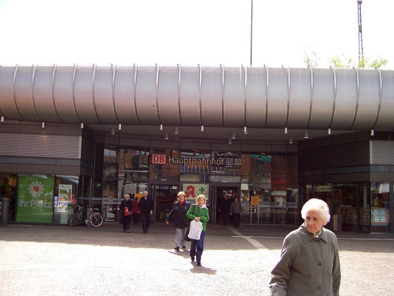 Eingang zum Gelsenkirchener Hauptbahnhof