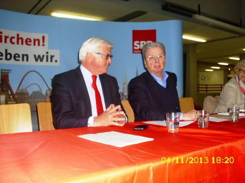 Frank - Walter Steinmeier und Joachim Poß