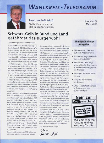 Wahlkreis - Telegramm Seite 1