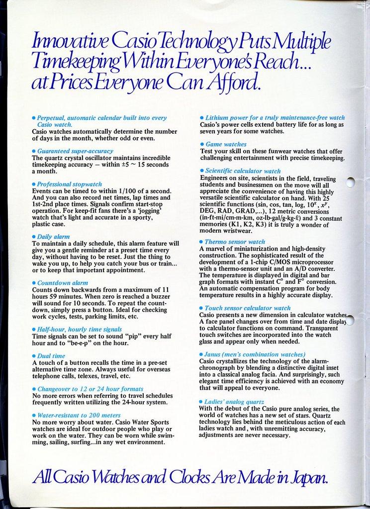 Casio uhren katalog pdf
