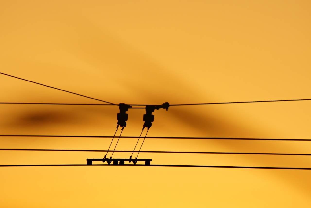 Sunset Stromleiter O-Bus Solingen