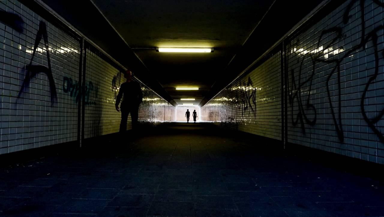Nur noch durch den Tunnel / Deutz - Bahnhof in Deutz 2016 Messe Photokina