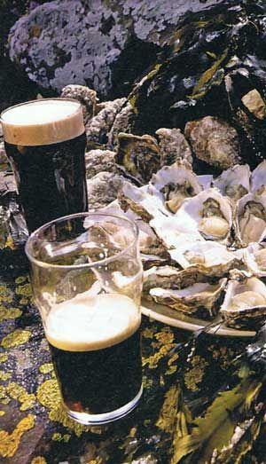Guiness und Austern