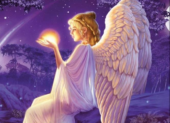 Engel mit Licht in der Hand