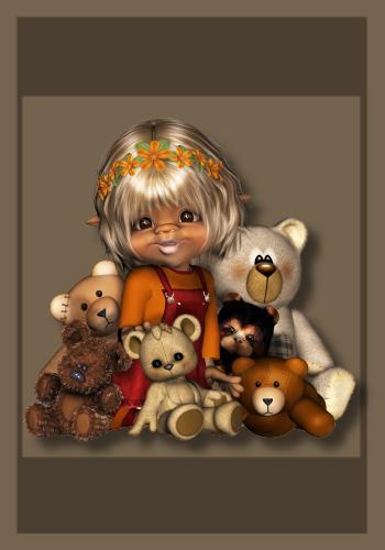 Mädel mit Teddys