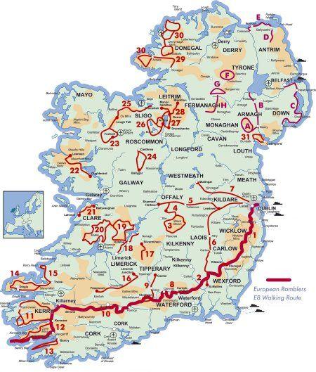 wanderwege irland karte Reisefieber akut