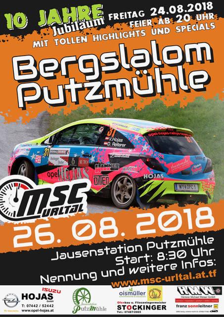 Bergslalom 2018 Plakat