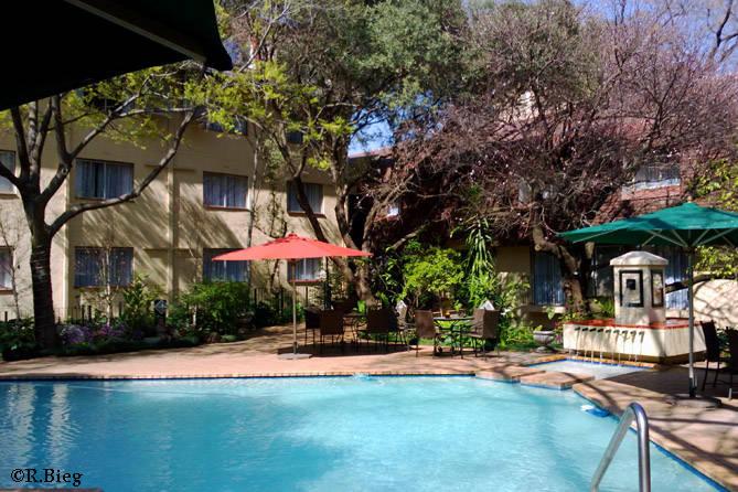Garten des Balalaika Hotels in Sandton