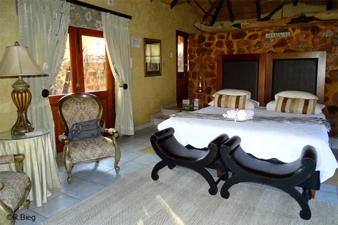 Die Zimmer in der Zenzele Lodge