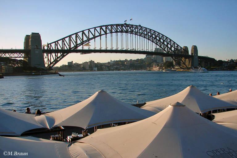 Die Harbour Bridge - ebenfalls ein Wahrzeichen der Stadt