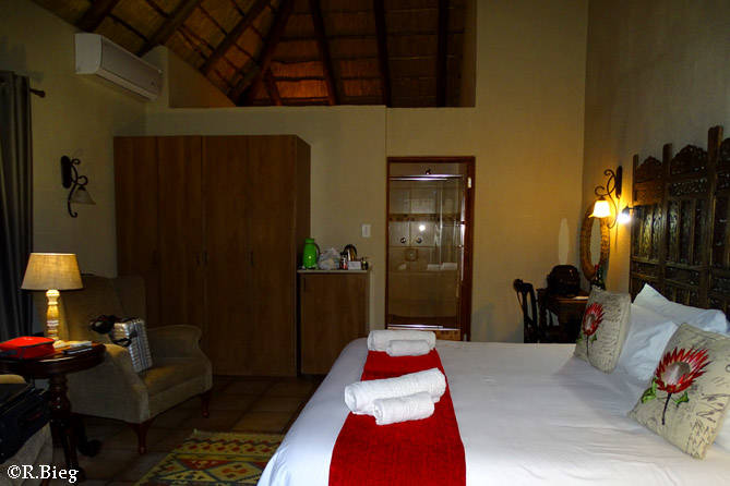 Das Zimmer in der La Kruger Lifestyle Lodge