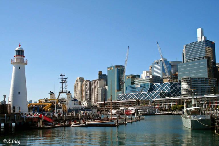 Das Hafenviertel Darling Harbour
