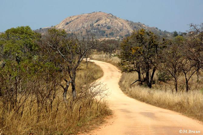 Die Landschaft in Richtung Satara