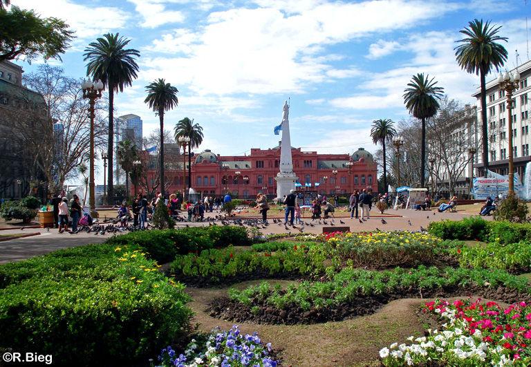Die Casa Rosada an der Plaza de Mayo