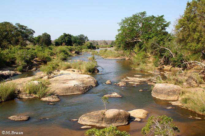 Der Sabie führt auch im September noch Wasser