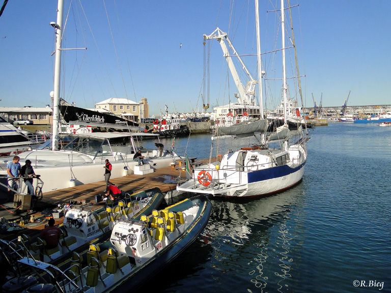 Der Hafen ist noch immer in Betrieb