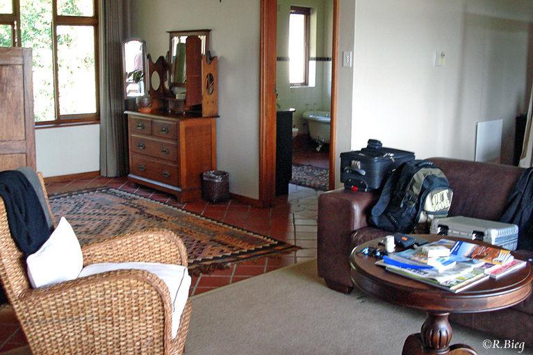 Unser Zimmer im Wilderness Manor Guesthouse
