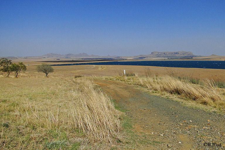Auf der R74 in Richtung Drakensberge