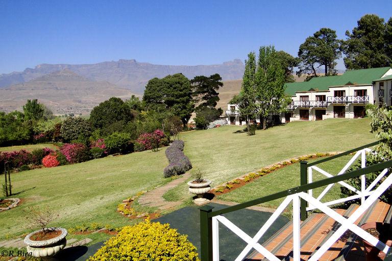 Blick auf die Landschaft des Royal Natal Nationalparks