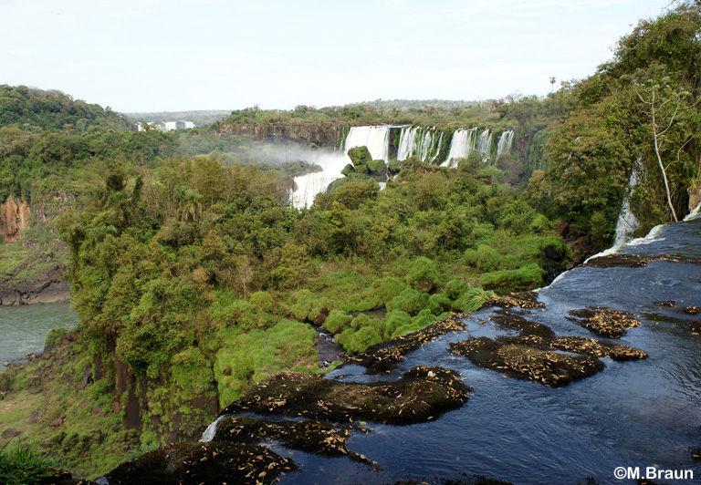 Der Aussichtspunkt über den Wasserfällen