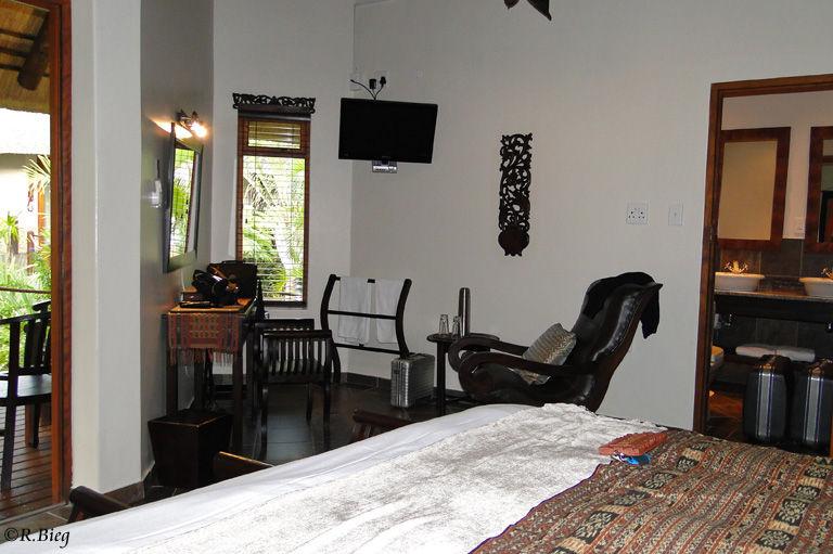 Unser Zimmer in der Lodge Afrique