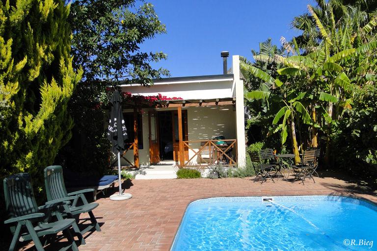 Unser Häuschen im Garten des Malherbe Guesthouse