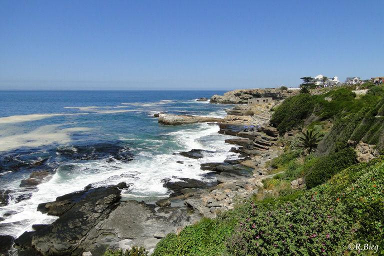 In Hermanus - Blick auf die Küste