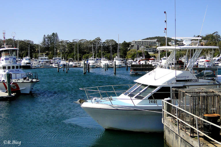 Der kleine Hafen von Nelson Bay