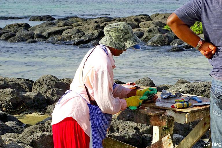Hier wird fangfrischer Fisch verkauft