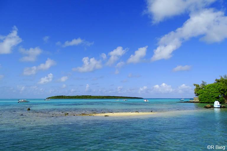 Blick auf die Insel Ile aux Aigrettes
