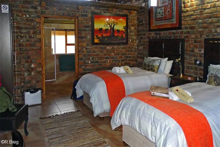 Das Zimmer in der Lodge
