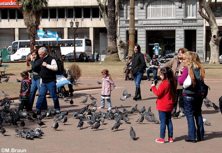 Szenen an der Plaza de Mayo