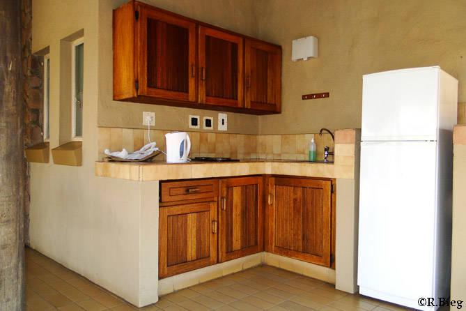 Die Küche befindet sich auf der Terrasse