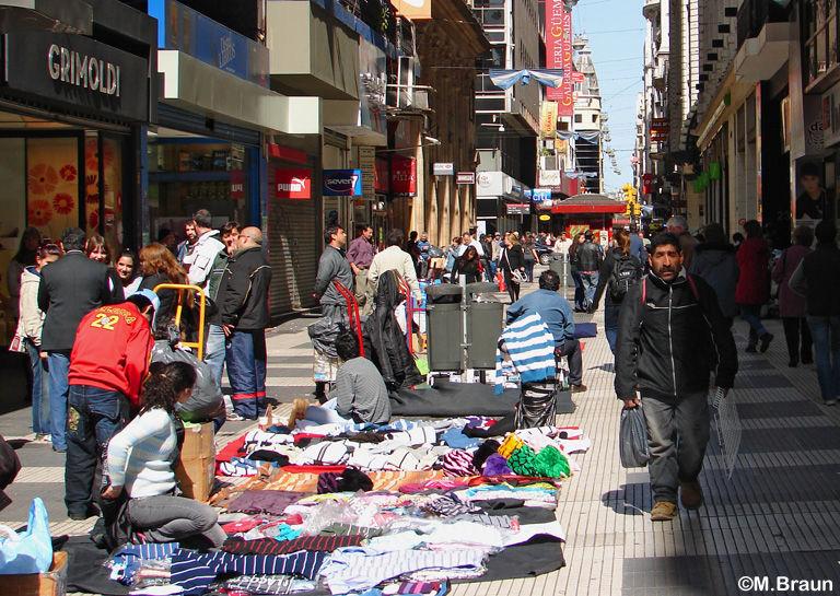 Straßenhändler in der Calle Florida