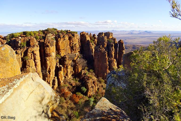 Bizarre Felsformationen im Valley of Desolation