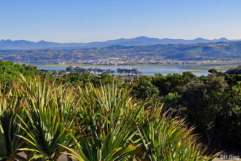 Blick vom Gästehaus auf die Lagune