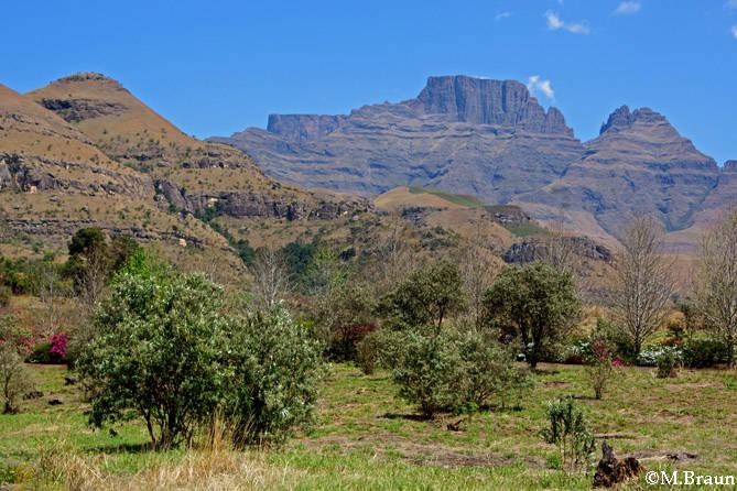 Blick auf die Drakensberge