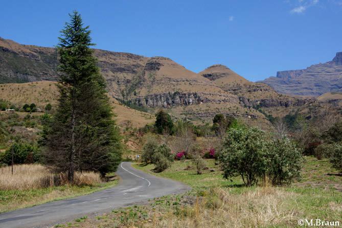 Landschaft in den zentralen Drakensbergen