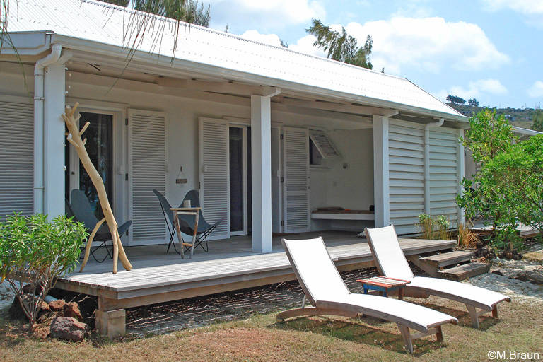 Unsere Unterkunft in der Bakwa Lodge - die Zimmer verteilen sich auf mehrere kleine Häuschen