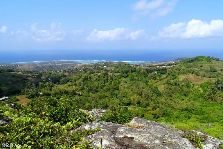 Blick von einem Aussichtspunkt im Naturereservat