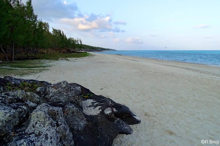 Der Strand am Hotel am frühen Morgen - aber auch tagsüber war er so leer
