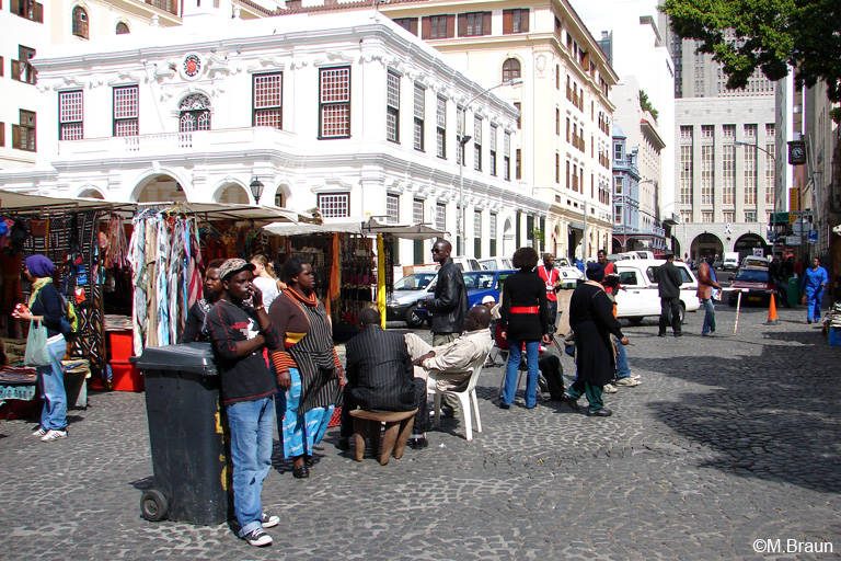 Der Green Market Square in der Innenstadt
