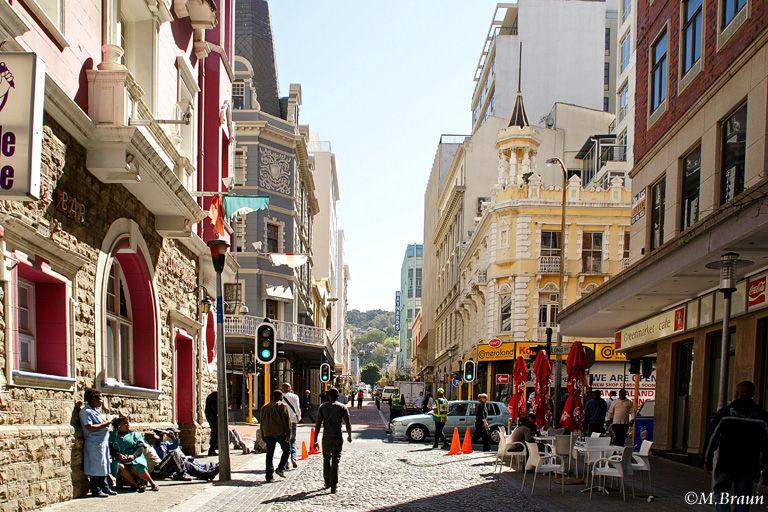 Kleine Straße in der Fußgängerzone