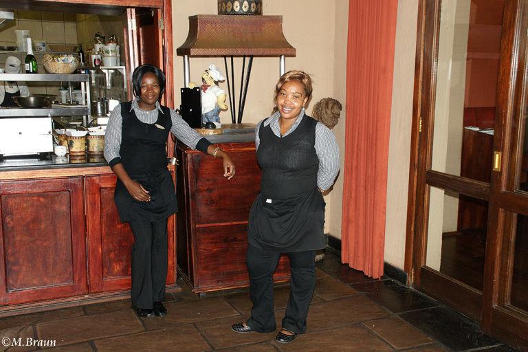 Im Restaurant der Lodge