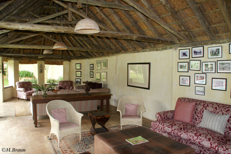 Lounge im Elephant House in Addo