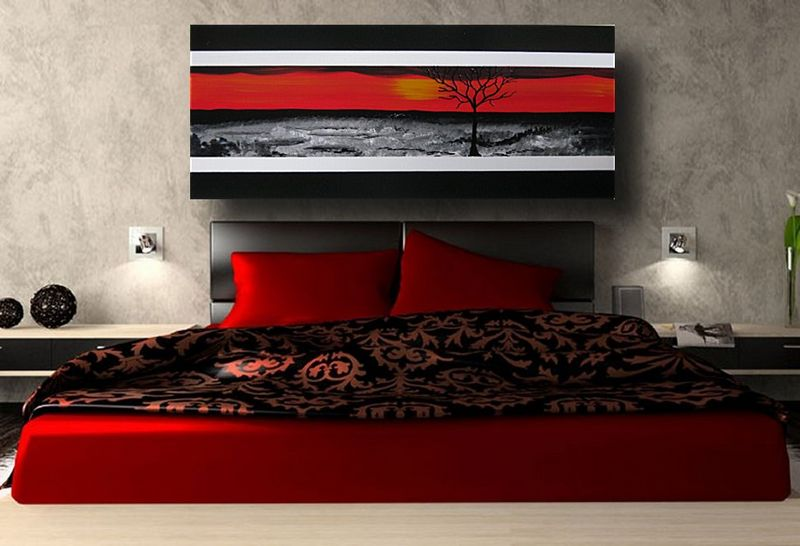 acrylbilder rot schwarz die neuesten innenarchitekturideen. Black Bedroom Furniture Sets. Home Design Ideas