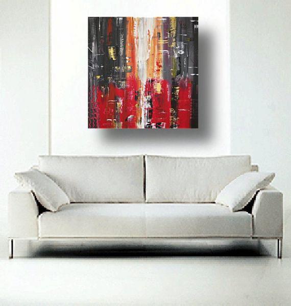 24 abstrakt rot schwarz grau wei gold 90 cm x 90 cm preis 135. Black Bedroom Furniture Sets. Home Design Ideas