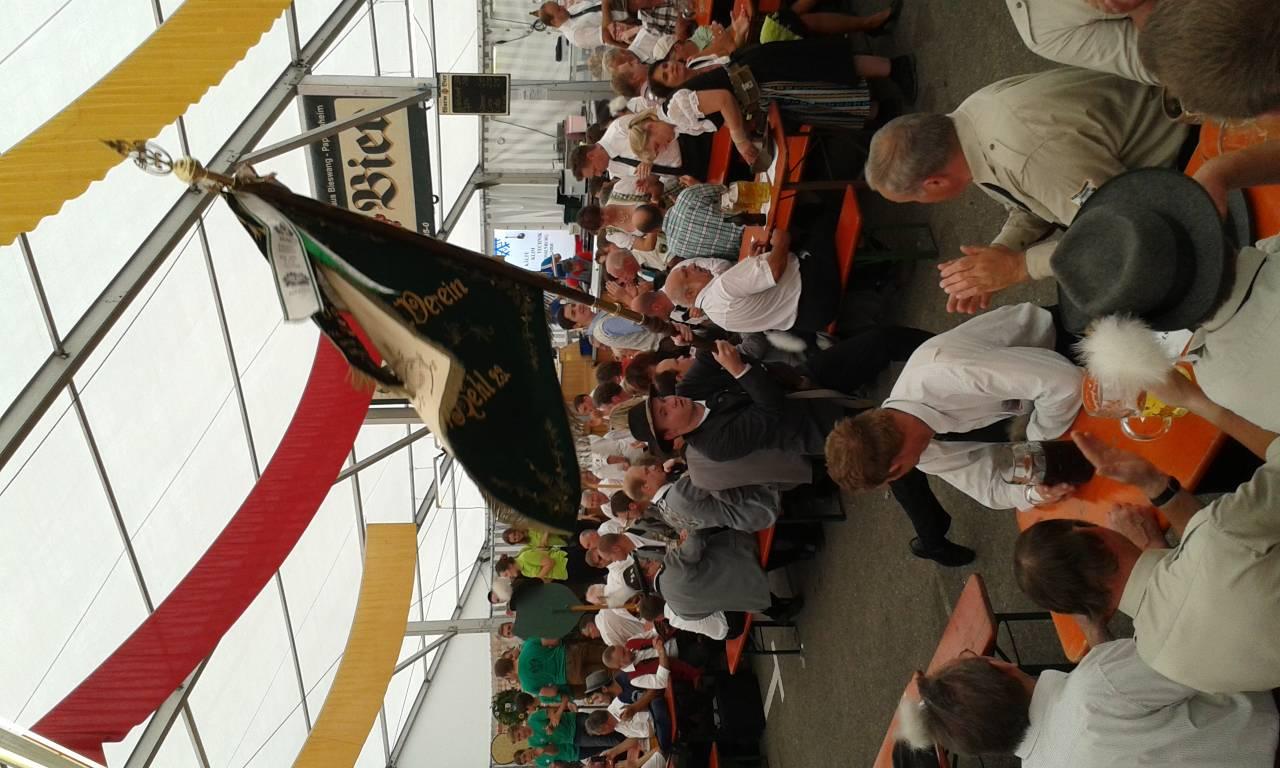 Fahneneinzug Pappenheim 24.07.2016