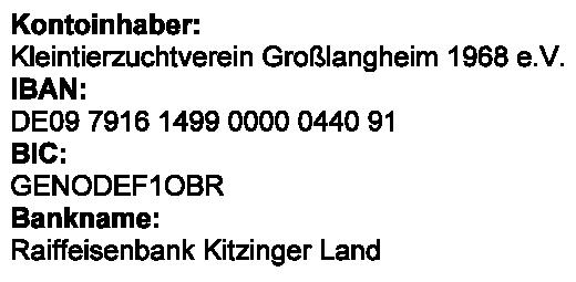 Bild Bankverbindung Spenden HCVS 2014